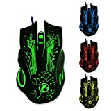 Gaming mouse optical 6 buttons lighting wired USB - Best Reviews Guide
