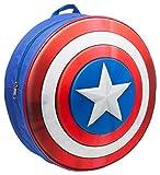 Marvel bp241201cap Capitán América Kids mochila con moldeado y escudo en relieve