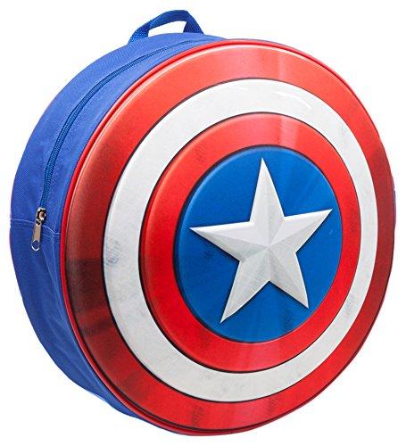 marvel-bp241201cap-capitan-america-kids-mochila-con-moldeado-y-escudo-en-relieve