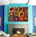 #7: JunkYard Canvas Painting - The Spiral Universe - Colourful Modern Canvas Art
