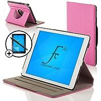 Forefront Cases® Nueva Funda Case Cover Protectora Giratorio de Cuero para Apple iPad Air 2 / iPad 6 – Función automática inteligente de Suspensión/Encendido + Lápiz óptico y protector de pantalla