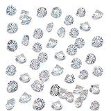 HAKACC 500 Pezzi di Diamanti Decorativi Glitterati, 10 mm Brillanti, Diamanti di Vetro, Pietre di Cristallo Trasparenti per Matrimonio Gunst Tabella Centrale