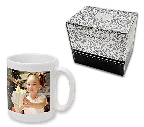 Personalisierte Fototasse * 330ml Tasse * mit eigenem Foto Druck Logo Motiv Text, Qualität der Beschichtung:Premium (500 Spülgänge), Verpackung:Geschenkbox