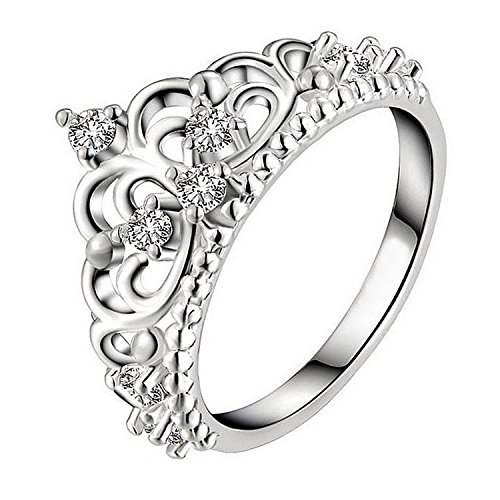 Crown Rings for love finger rings for queen princess 19 Likes women jewelry wedding ringsALRG0396SL