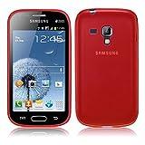 TBOC® Funda de Gel TPU Roja para Samsung Galaxy Trend Plus S7580 de Silicona Ultrafina y Flexible