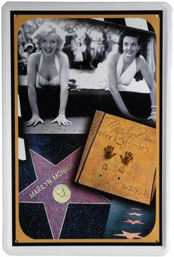 Blechschild Hollywood Stern Marilyn Monroe 20 x 30cm Reklame Retro Blech 816