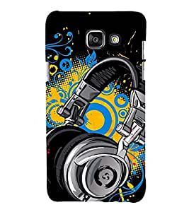 printtech Abstract Music Headphones Back Case Cover for Samsung Galaxy A5 (2017) / Samsung Galaxy A5 (2017 edition) Duos with dual-SIM card slots