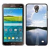 MDMG / Snap On Hartschalen-Case Schutzhülle Hülle - Natur Wasserstraße - Samsung Galaxy Mega 2