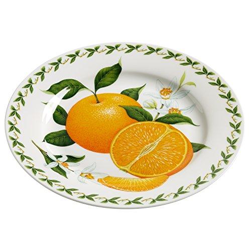 Maxwell & Williams PB8210 Orchard Fruits Assiette, Orange, 20 cm, boîte Cadeau, Porcelaine, Multicolore