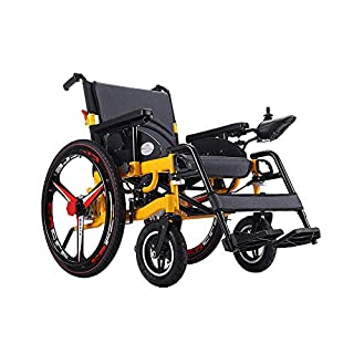 TWL-Wheelchair Electric Wheelchair Folding Collapsible Light Old Man Scooter Fully Lying Smart Disabled Four-Wheel Automatic 150Kg Load, Eabs Brake System Wheelchairs Folding Lightweight, Lead-aci