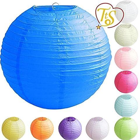 TtS 5 Pièces 40cm Lampion Papier Lanterne Boule Abat-jour Armature