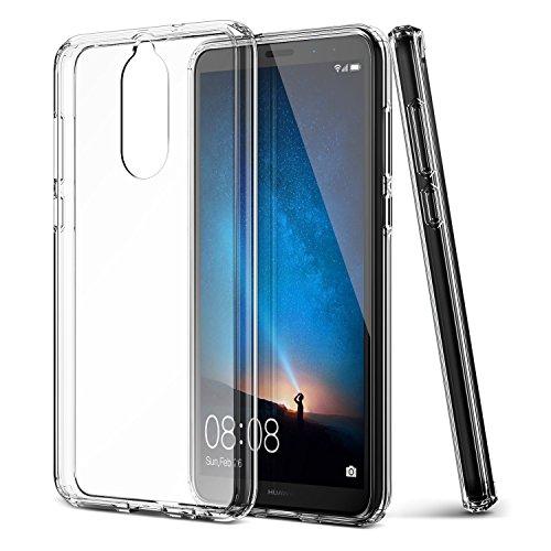 ykooe Huawei Mate 10 Lite Hülle, Transparent Silikon Schutzhülle für Huawei Mate 10 Lite Case Crystal Clear Durchsichtige TPU Bumper Mate 10 Lite Handyhülle (5,2 Zoll) Transparent
