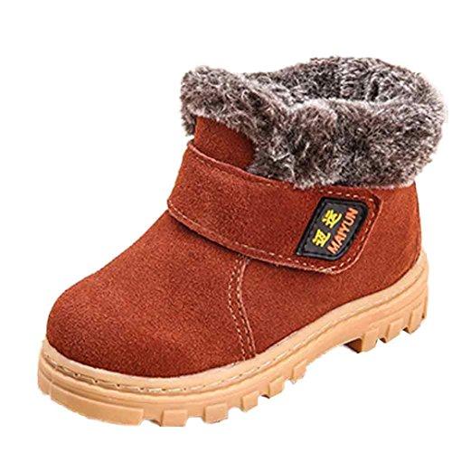 FEITONG Winter Baby Kind Art und Weise Art Baumwollschuh warme Schnee Aufladungen (27, Grau) Braun