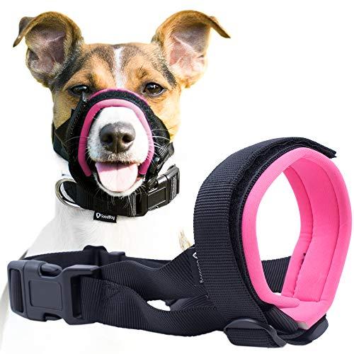 Good Boy Maulkorb für Hunde - Verhindert Bisse, ungewolltes Kauen - Kein Wundscheuern Mehr (M, Rosa)