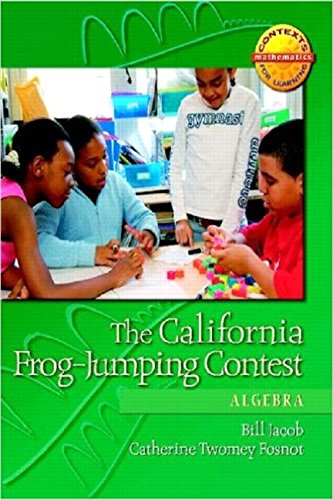 The California Frog-Jumping Contest: Algebra (Contexts for Learning Mathematics,Grades 4-6: Investigating Fractions, Decimals, and Percents)