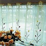 GUOCAIRONG® Tulle Vorhänge Floral Sheer Tüll Fenster Vorhänge für Wohnzimmer das Schlafzimmer Moderne Tüll Vorhänge für Fenster Vorhang Stoff Blinds Vorhänge 1 Stk , 90*150cm