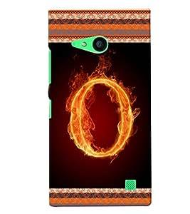 Fuson 3D Printed Aphabet O Designer back case cover for Nokia Lumia 730 - D4205