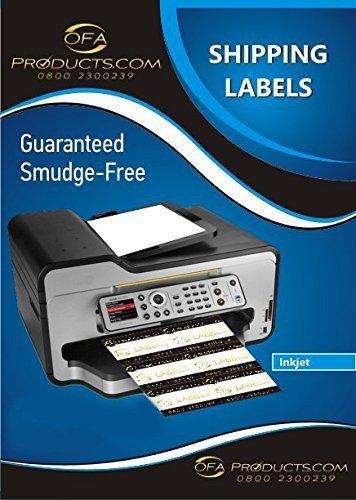 (zwei)- 2 Etiketten pro Bogen, 100 x A4 Blatt/Box, Etiketten für Tintenstrahldrucker, & Kopierer Beschriftungen 2 Laser/Blatt 199,6 x 143,5 mm (ungefähr 20,32 cm x 14,48 cm Zoll) L7168
