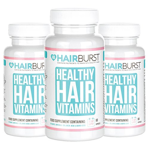 HAIRBURST™ Vitamins for Hair Growth – One Month Supply – 60 Capsules – Faster Hair Growth