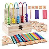 Marco de cuenta de madera bebé niños grano Laberinto ábaco Rack matemáticas juguete educativo temprano para 3-6 años - Mxssi