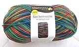 100g Sockenwolle 4-fädig - Farbe 00186- exotic - die klassische Sockenwolle in höchster Qualität.