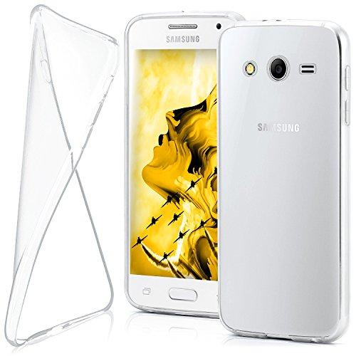 Galaxy 2 Samsung Etui Core (Samsung Galaxy Core 2 Hülle Silikon Transparent Klar [OneFlow Clear Back-Cover] TPU Schutzhülle Dünn Handyhülle für Samsung Galaxy Core 2 Case Ultra-Slim Silikonhülle Rückseite)