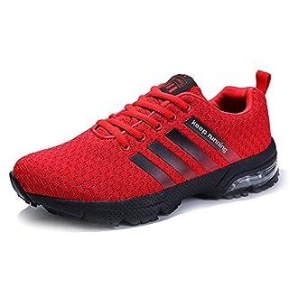 Senbore Herren Sportschuhe Running Schnürer Laufschuhe Atmungsaktiv Trainers Turnschuhe Sneakers