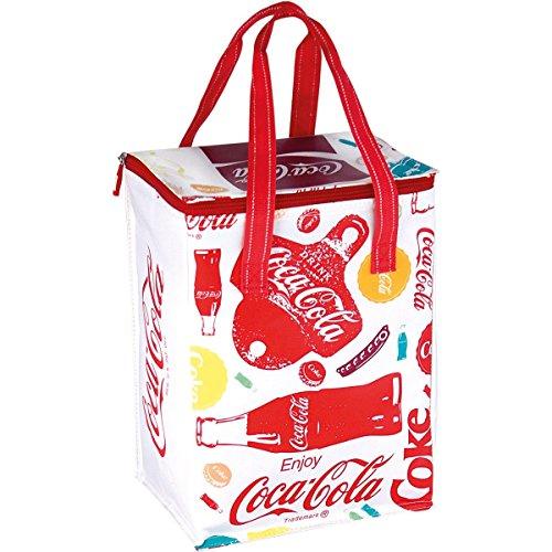 EZetil Kühltasche Coca-Cola Fun, Isoliertasche für die kühle Lagernung von Lebensmitteln und Getränken beim Camping und Picknick, auf Reisen oder beim Einkauf, Mehrfarbig, 25 x 17.5 x 34 cm, 15 Liter