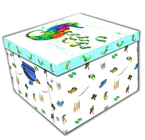 51ZsySz69nL BEST BUY #1Robert Frederick Eric Carle Mr Seahorse Collapsible Storage Box, Plastic, Assorted price Reviews uk