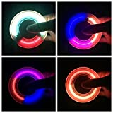LED Light Fidget Hand Spinner Toy Tri-Spinner Stress Reducer Bearings Anxiety Relief EDC Toys for ADD, ADHD Anxiety Autism Boredom Stress Focus Children and Adults