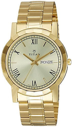 51ZszdUcvdL - Titan 1644YM03 Gold for Men watch