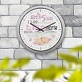 Kinderuhr Kinderzimmeruhr Wanduhr Geburtsuhr Uhr Lisa Marie