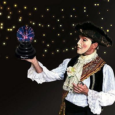 Theefun Magische Plasmakugel Mini Leuchtkugel Tragbare Plasma Ball Elektrostatische Kugel Berührungsempfindliche Blitzkugel, Nebel Blinkende Sphäre Pädagogisches Spielzeug Plasmaphysik Blitzlicht Plasmalampe Plasmasphäre Lichteffekte für Disco, Unter