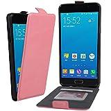 Owbb ouvrir de haut en bas cuir Flip Housse Étui Coque de protection en PU cuir pour Samsung Galaxy A5 (2016) A510 Compact Smartphone-Rose