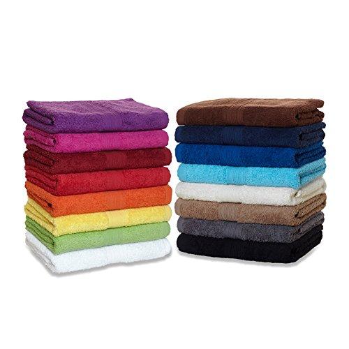 Frottier Handtuch-Serie - in 8 Größen und 16 Farben für Sie verfügbar, Duschtuch (70x140cm) in Dunkelblau