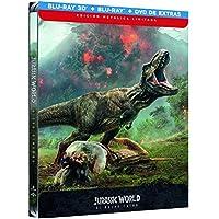 Jurassic World 2 El Reino Caido (BD 3D + BD + Dvd Extras) - Edición Metálica