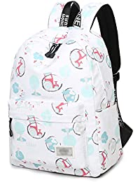 School Bookbags For Girls, Cute Rural Style Laptop Backpack College Bags Women Daypack Travel Bag By Toperin (...