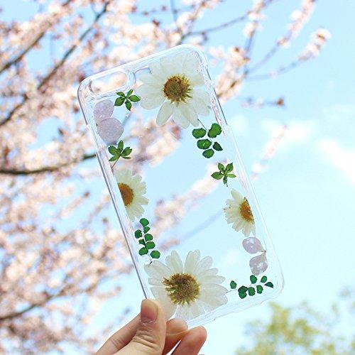 Custom iPhone 6S Jolie iphone 6Coque Fleur véritable pour femmes filles 11,9cm Apple téléphone Cristal Transparent