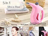 Siddhi Collection 2 in 1 Handheld Mini Garment Steamer Facial Steaming Ironing Humidification