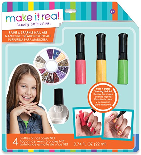 MAKE IT REAL 02321 - Paint und Sparkle Nail Art: Graphic Jungle, Beauty Collection