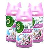 3 x Max Air Wick Freshmatic Refill 250 ml)-Magnolia &Kirschblüten
