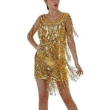 40a84e61b Vestidos Mujer Vestidos De Fiesta Elegantes Cortos De Noche Vestido Coctel  Vintage Flash Lentejuelas Con Flecos