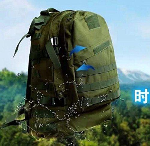 Outdoor zaino camouflage Double borsa a tracolla 52*35*18cm, Army green 36-55 litri Army green 40L