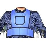 Wasserdichte Kreuztruhe Weste Restraint Zur Verwendung mit Bett oder Stuhl - tragen Sie widerstandsfähig und waschbar (blau)