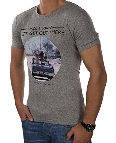 JACK & JONES Herren T-Shirt jorROAD TRIP Tee Rundhals Fotoprint Slim Fit
