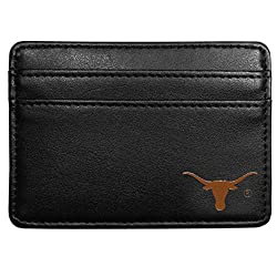 NCAA Texas Longhorns Leather Weekend Wallet, Black