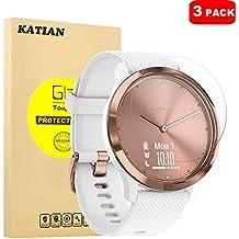 KATIAN [2 Pack Garmin Vivomove HR Protector de Pantalla, 9H Vidrio Templado Protector de