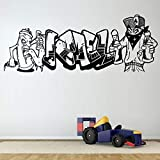 Graffiti Personnalisé Nom Art Spray Stickers Muraux pour Pépinière Enfants Chambre...