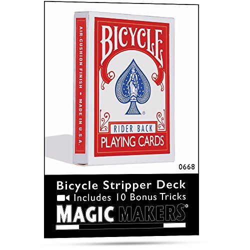 Rock Ridge Magic Bicycle Trickkartenspiel, konisches Deck / Stripper Deck, Rot