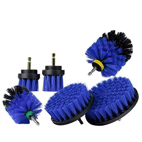 Y56 6 Stücke Mörtel Power Scrubber Reinigungsbürste Tub Cleaner Combo Tool Kit Bohrbürsten-Kit Drill Brush Kit (Blau)